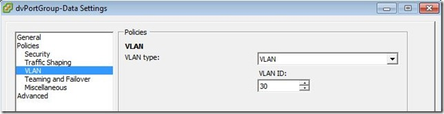 dvPortGroup VLAN Definition